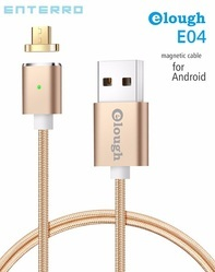 Elough and Gold Silver Black Elough Magnetic Data Cable (Android), Model E04