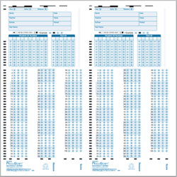 Competition Blank Answer Sheet