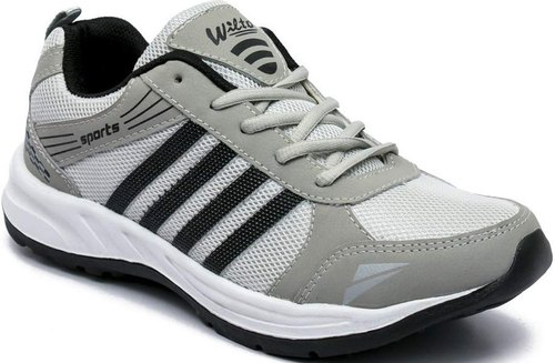 Asian Grey Running Shoes For Men, Size