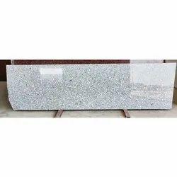 Polished Slab Cotton White Granite, Thickness: 15-20 mm
