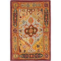 Multicolor Embroidered Centre Floor Carpets