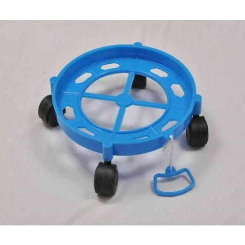 Black, Blue LPG Cylinder Trolley