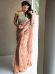 Ladies Organza Fancy Saree with Blouse
