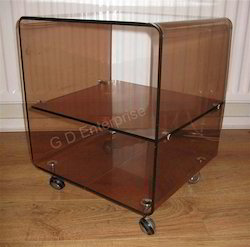 Retro Perspex Acrylic Shelves Trolley