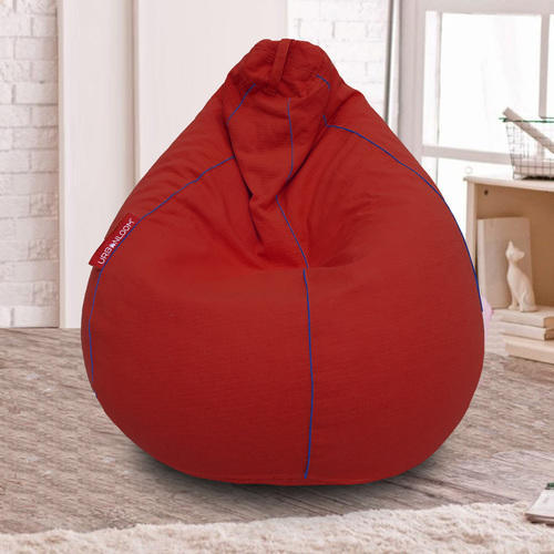 Bean Bags & Inflatables free Shipping Furniture Red Fur Bean Bag Xxxl Size Cover Without Beans
