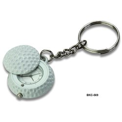 Round Digital Key Chain With Clock, For Personal Use