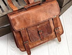 Vintage Leather Messenger Bag, Handmade Leather Bag, Shoulder Bag