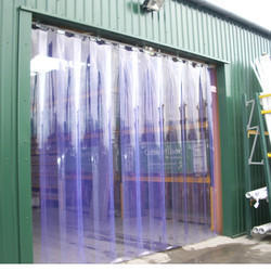 Standard Transparent PVC Strip Curtains, Thickness: 20mm