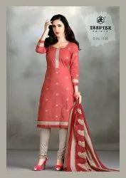 Deeptex Contrasting Regular Wear Unstitched Printed Dress Material