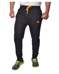 1358f8ce7139 Mens Cotton Track Pants With Zipper Pockets (Black Orange) at Rs 499 ...
