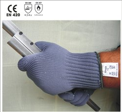 P/7GG/N Nylon Grey Color Seamless Knitted Gloves