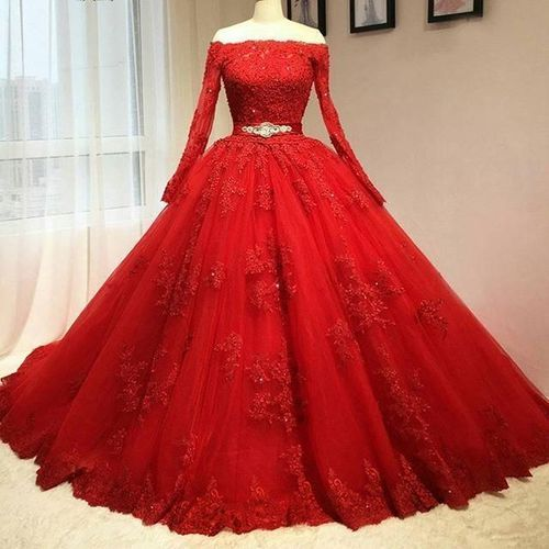 Red Party Dresses with Straps