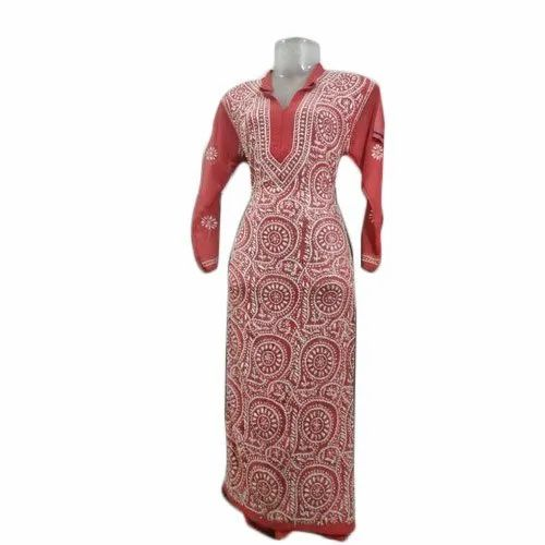 Ladies Regular 3/4th Sleeve Designer Kurti With Dupatta