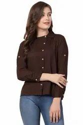 Plain Shirt Style Half Sleeves UNIYALS Western wear Rayon TOP
