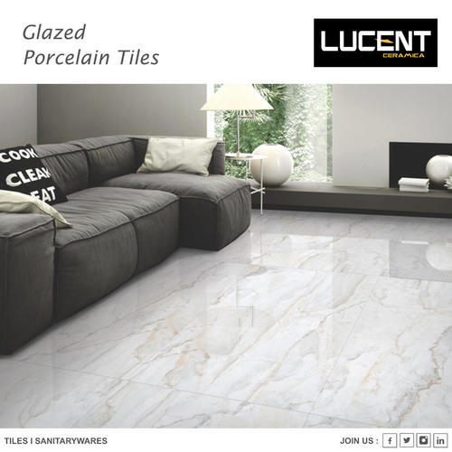 White Vitrified Glazed Tiles Size 60 X 60 Cm Rs 359 Box Lucent Ceramica Id 17365604930