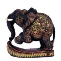 Decorative Wooden Elephant With Base