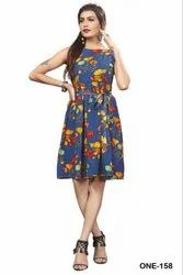 One Piece Vol-3 Crepe Short Midi Fancy Wetern Collection