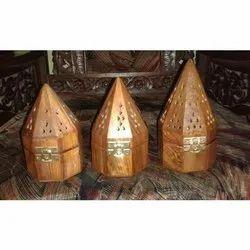 Octagonal Wooden Incense Burner