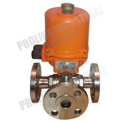 Stainless Steel , Casting 3 Way Motorized Ball Valves, Size: 25 Mm To 200 Mm