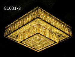 Square Roof Mount LED Crystal Chandelier