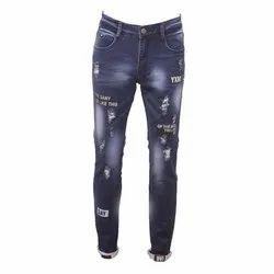Button Men Printed Denim Jeans