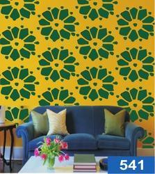 Flower Printed Wall Stencil