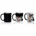 Black Plain And Printed Magic Mug, For Promotional