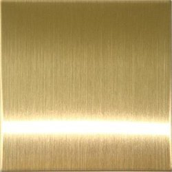 Stainless Steel Gold Hairline Designer Sheet