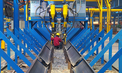 H Beam Gantry Type Cantilever SAW Welding Machine, 1500x3000x15000mm
