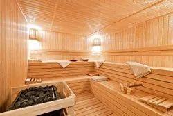Wood Sauna Room, Size: 96