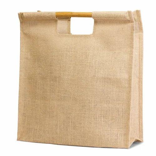 dfa3447f28f7 Bamboo Handle Jute Shopping Bags - Bagmaker, Gurgaon | ID: 14962409988