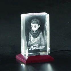 3D-1012A Custom Laser Engraved Crystal