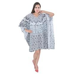 White Black Night Kaftan