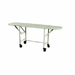 Stainless Steel Stretcher Hospital Trolley, Size: 213 L X 56 W X 81 H Cm
