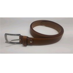 Park Avenue Brown Mens Leather Belt, Packaging Type: Box