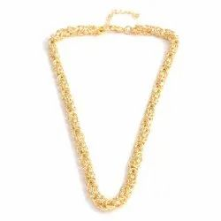 Gold Plated Byzentine Chain Necklace, Weight: 50 Gm