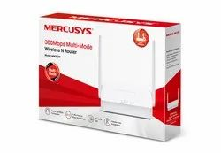 White Mercusys Mw302r 300 Mbps Multi-Mode Wireless n Router, For Home & Office