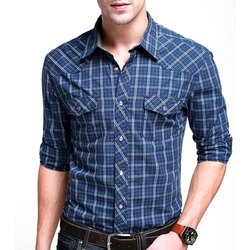 M-xxl Casual Wear Mens Checked Shirt