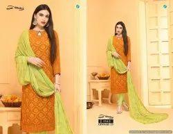 Chiffon Karachi Work Salwar Suits