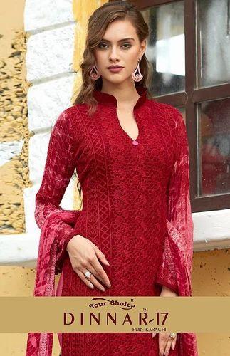 0eb9c06c1c Chiffon Salwar Suit, शिफॉन सलवार सूट, Chiffon Salwar ...