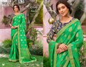 Fancy Party Wear Green Sarees