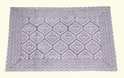 Canvas Hand Block Printed Place Mats, Mat Size: 13x19 Inch