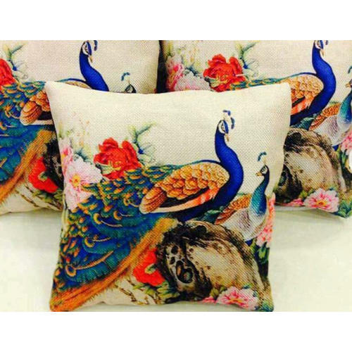 Hand Painted Silk Cushion Covers Size L 16 Inches To 24 Inches W