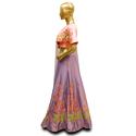 Party Wear Net Crop Top and Lehenga with Dupatta