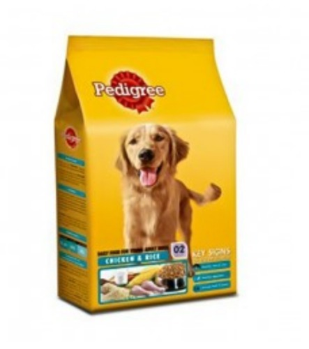 Pedigree Dry Dog Food Young Adult Chicken And Rice Pack Size 12kg