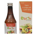 Ebion Vit.b Complex And L-lysine Syrup, 200 Ml, Packaging Type: Bottle
