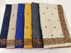 Embroidered Border Kashmiri Saree