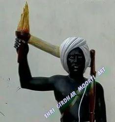 Marble birsha munda statue