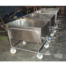 Container Type Soiled Dish SS Trolley