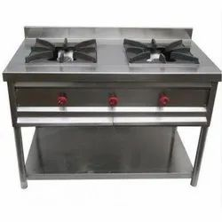 2 Indian Two Burner Gas Range for Commercial Kitchen